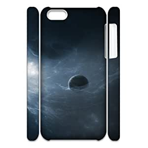 3D IPhone 5C Cases One Planet in the Galaxy, IPhone 5C Cases Galaxy, [White]