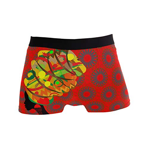 359efd6ba3de BETTKEN Men's Boxer Briefs, Tradition Tribal African Woman Short ...