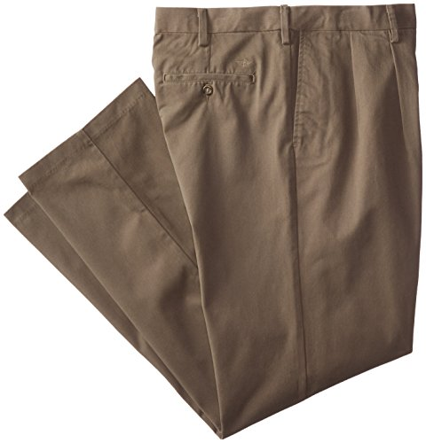 Big And Tall Pleated Pants (Dockers Men's Big and Tall Easy Khaki Comfort-Waist Classic-Fit Pleated Pant, Fig, 46W x 32L)