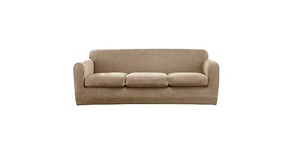 Amazon.com: SureFit - Funda para sofá con tres cojines, 96 ...