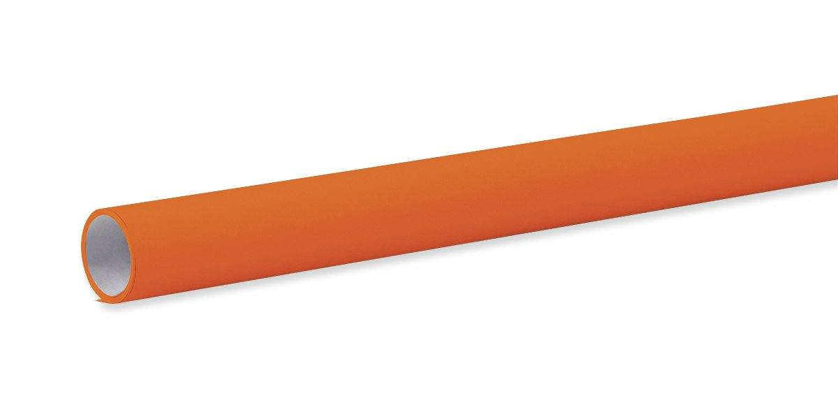 STRATHMORE PAPERS Fadeless Bulletin Board Art Paper, Orange, 48'' x 12', 1 Roll