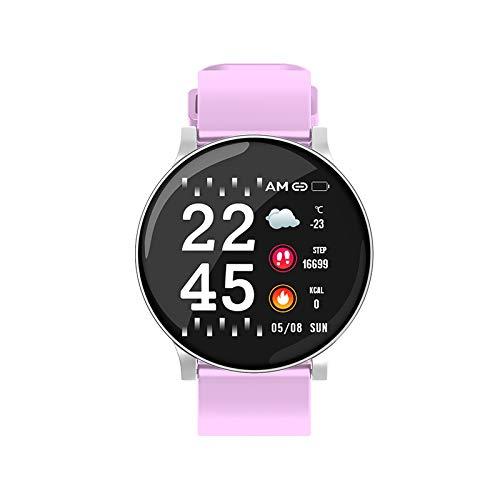 W8 Smart Watch Sport Fitness Tracker IP67 Waterproof Smartwatch Running Cycling Smart Wristband Smart Band (Pink)