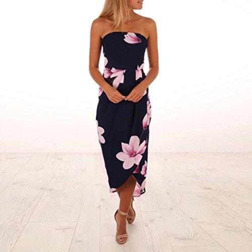 Womens Dress Summer Shoulder The KIMODO Boho Sundrss Navy Off Lady Beach Maxi Dress 4qdadwF