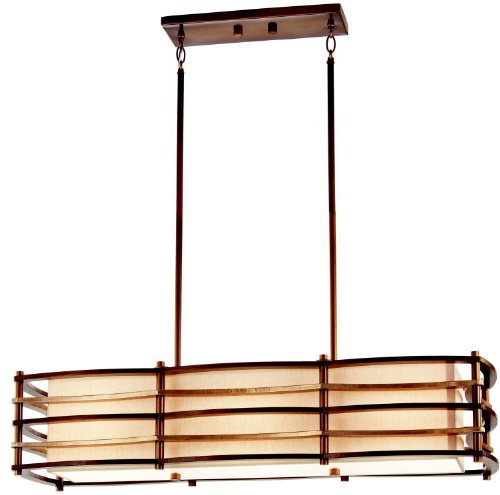Kichler 42061CMZ Moxie Linear Chandelier 3-Light, Cambridge Bronze
