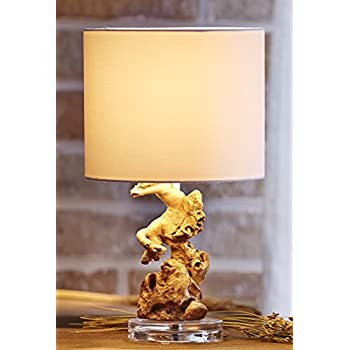 Merveilleux Ou0027THENTIQUE Driftwood Table Lamp | Rustic Wood Root, Natural Handmade  Acrylic Base White
