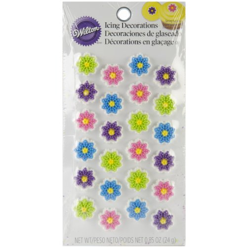 Wilton 710-1230 Flower Cookie Decorations, Mini