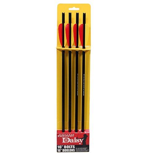 Daisy Crossbow Aluminum Bolts (Pack of 4), 16'', Black by Daisy (Image #1)