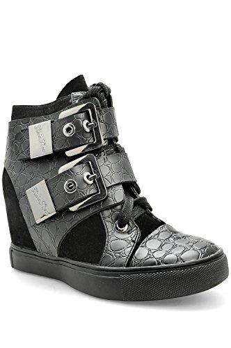 Alx Trend Chaussures femme Sneakers avec boucleset et coin interne Atene - Noir