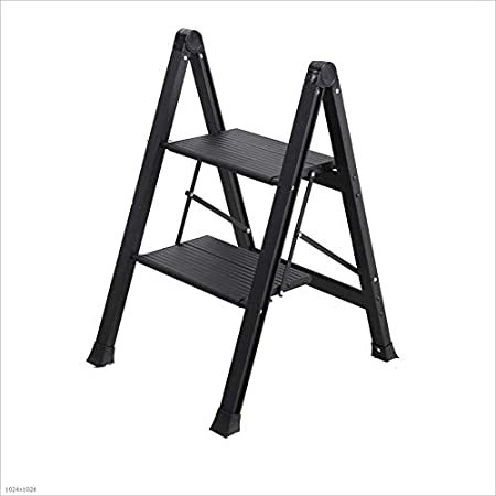 Escaleras Plegables Escalera Plegable de Aluminio Escalera multifunción Escalera portátil Liviana Fácil de Guardar y Transportar Negro Escaleras Telescópicas (Color : Black, tamaño : S): Amazon.es: Hogar