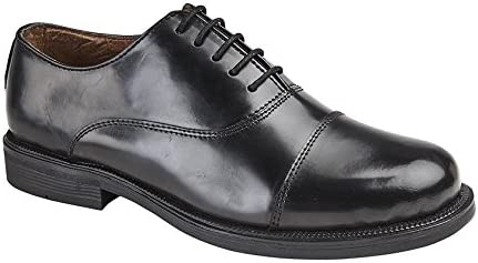 MENS BOYS OXFORD SCHOOL SHOES LEATHER