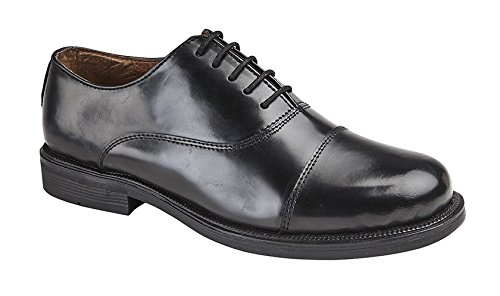Mens Boys Oxford School Shoes Leather Smart Work Shoes Formal Office
