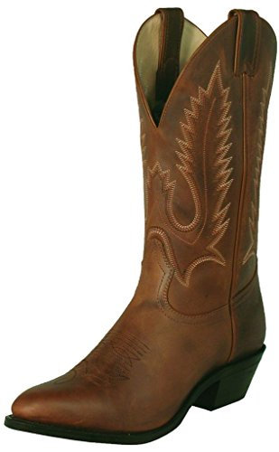 Bottes américaines - santiags: bottes country BO-0096-72-EEE (pied fort) - Homme - Marron