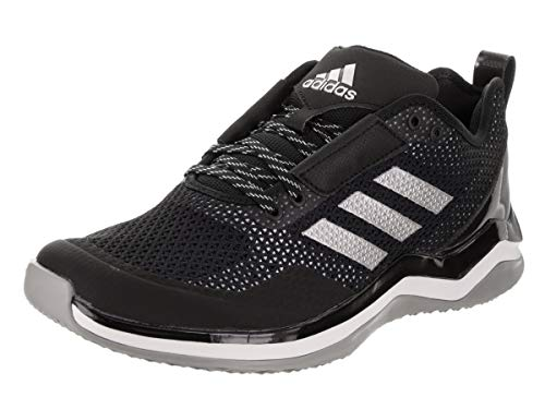 adidas Men's Speed Trainer 3 Shoes, Black/Metallic Silver/White, 10 M US