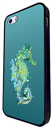 846 - Cool Fun Sea Horse Design iphone SE - 2016 Coque Fashion Trend Case Coque Protection Cover plastique et métal - Noir