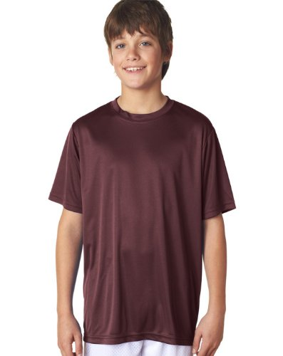 [A4 Youth Cooling Performance Crew Short Sleeve T-Shirt, Maroon, Medium] (Maroon Kids Shirt)
