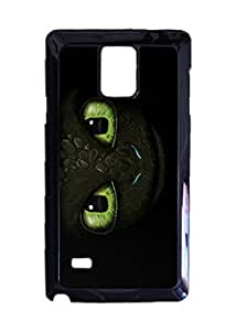 Engood Design How to Train Your Dragon Eyes of Toothless Case Durable Unique Design Hard Back Case Cover For Samsung Galaxy Note 4 New