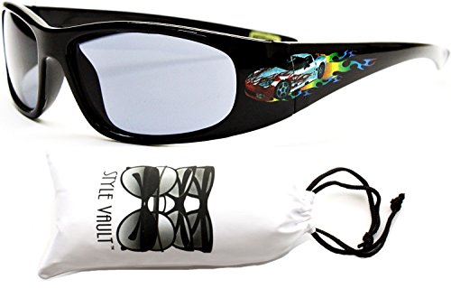 kd29-vp infant toddler Kids Childrens (6month~2year old) sport Sunglasses (582 Black/Blue, - Old Sunglasses Month 6