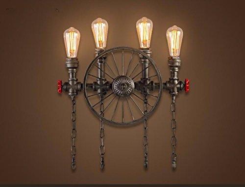 Lampada da parete in stile industriale lampada a led in ferro da
