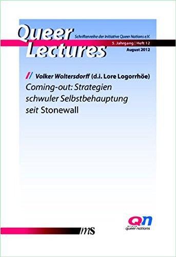 Coming-out: Strategien schwuler Selbstbehauptung seit Stonewall (Queer Lectures) Taschenbuch – 1. Juli 2012 Jan Feddersen Volker Woltersdorff Männerschwarm Verlag Salzgeber Buchverlage GmbH