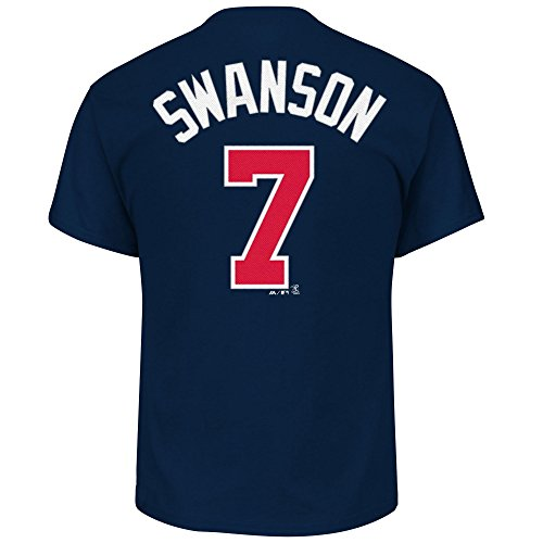 Outerstuff Dansby Swanson Atlanta Braves #7 Youth Player Name & Number T-Shirt Navy (Youth Medium ()