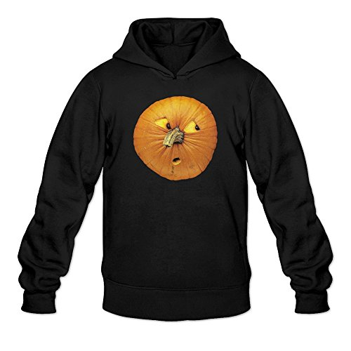 Men's Cute Curious Emoticon Pumpkin Halloween Sweatshirts Black
