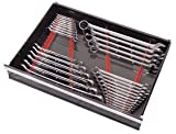 Ernst Manufacturing Wrench Rail Set with Magnetic Backing, 40 Tool, Red