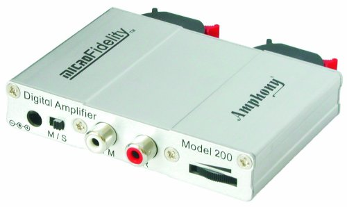 microFidelity Mini Amplifier, Model 200 Silver by Amphony