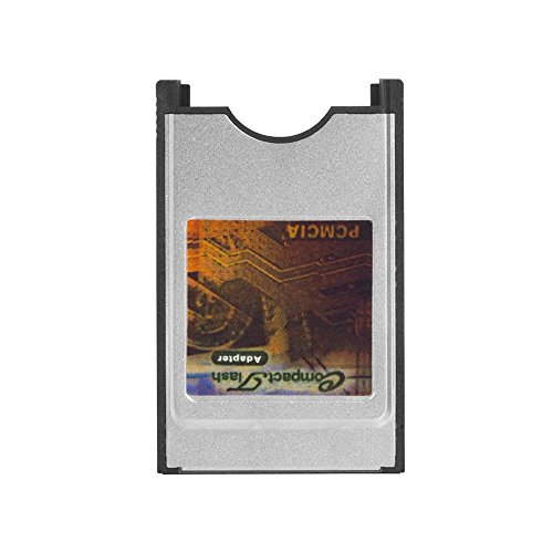 Pcmcia Flash Adapter (QNINE Pcmcia To Compact Flash Adapter, CF Flash Card Reader For Laptop, Converter As PC Card Flash Disk ATA Memory)