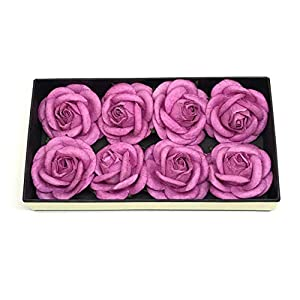 "2"" Fuchsia Pink Paper Flowers Paper Rose Artificial Flowers Fake Flowers Artificial Roses Paper Craft Flowers Paper Rose Flower Mulberry Paper Flowers 10 Pieces 66"