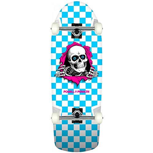 Powell-Peralta Skateboard Complete OG Ripper Checker Blue Old School ()