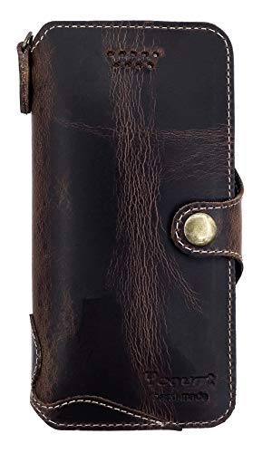 (Yogurt for iPhone 8/7 Genuine Leather Wallet Cases Cover Handmade Oil Leather)