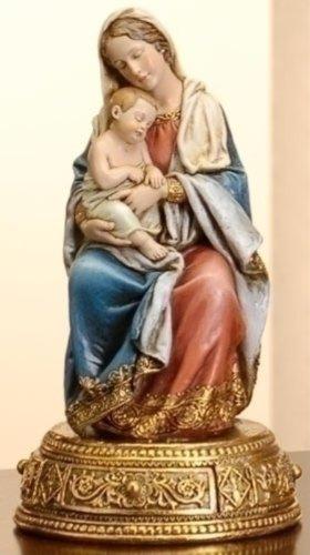 Seated Madonna & Child Figurine -