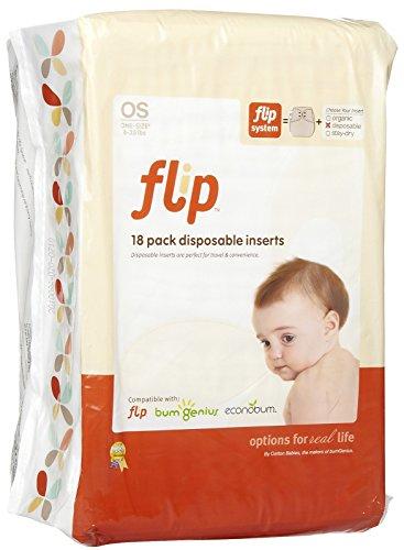 flip Disposable Diaper Inserts, 18 Count