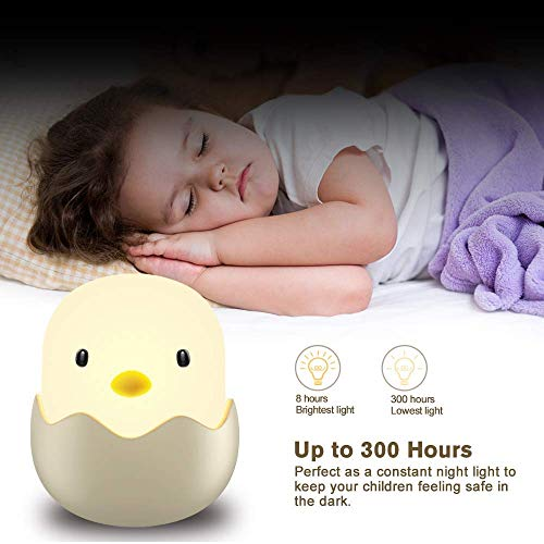 (Updated Version)Tecboss Night Light for Kids, Baby Night Light Touch Control Rechargeable Nursery Lamp Cute Chick Nightlights for Breastfeeding Kids Children Room by Tecboss (Image #2)