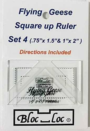 Bloc Loc Flying Geese Square Up Ruler Set #4