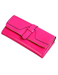 Bling Stars Women Leather Wallet Purse Credit Card Clutch Holder Case