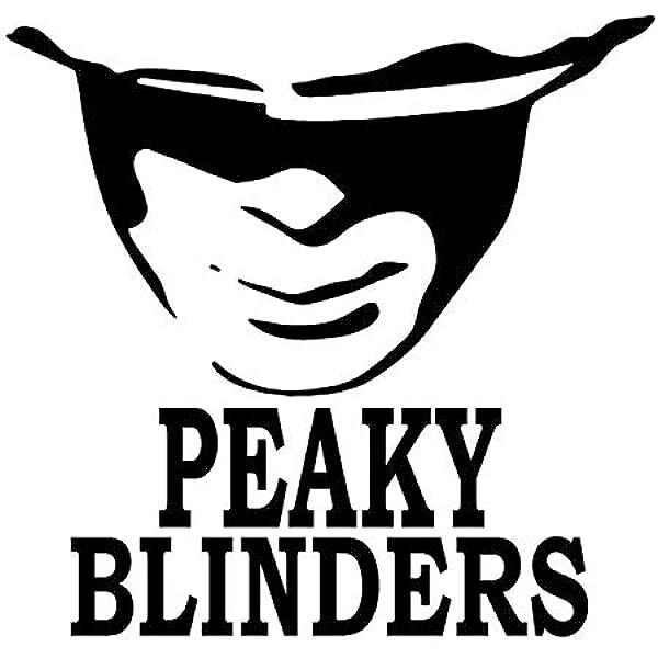 ZAWS Peaky Blinders calcomanía Negra de 5.2 x 5 Pulgadas para Parachoques y Ventana de Coche para Coches, Ordenadores portátiles, Camiones Pared y más.: Amazon.es: Coche y moto