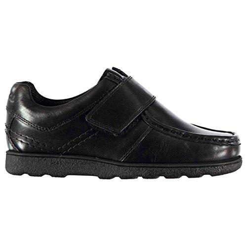 Kangol Kids Farham V Childs Shoes Moc Toe Hook and Loop Leather Upper Cushioned Black UK C12 - Uk Kangol