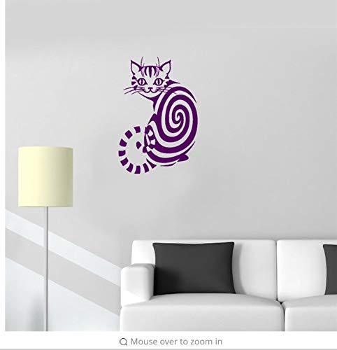 LSFHB Cute Vinyl Decal Cheshire Cat Animal Children's Room Nursery Nontoxic PVC Wall Stickers Decals for Home Decor Poster Mural 44Xx58Cm for $<!--$30.01-->
