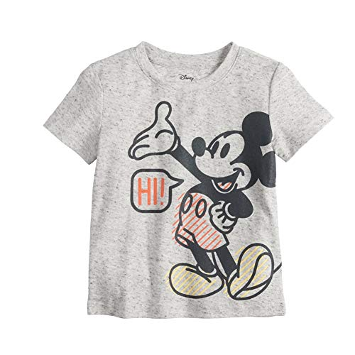 Baby Boys' Mickey Mouse Tee T-Shirt Top Short Sleeves Gray (12 Months) - Gray Mouse T-shirt