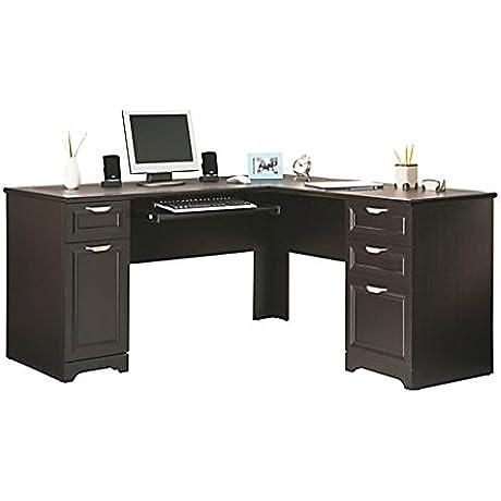 Realspace Magellan L Shaped Desk 30 H X 58 3 4 W X 18 3 4 D Espresso