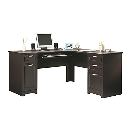 Realspace Magellan L-Shaped Desk, 30H x 58 3/4W x 18 3/4D, Espresso (Realspace Magellan Performance Collection L Desk Espresso)