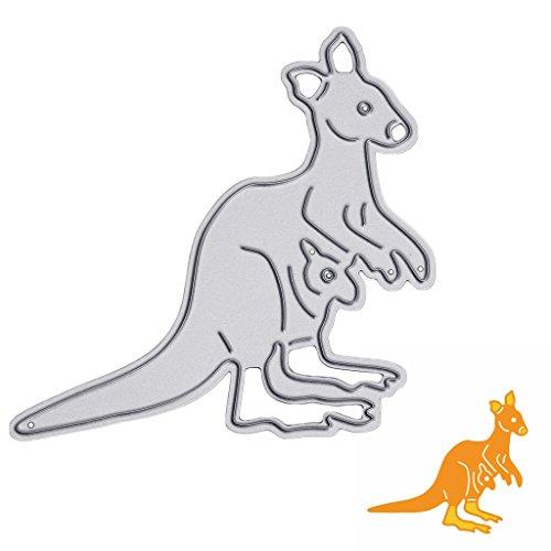 JUA PORROR Carbon Steel Scrapbooking kangaroo Die Cutting Stencils DIY Album Card Crafts -