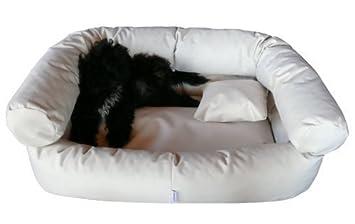 tierlando cama de perro Paula Sofá cama de perro 100cm Crema anti-pelo poliéster: Amazon.es: Productos para mascotas
