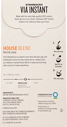 Starbucks VIA Instant Coffee, House Blend, 96 Count by Starbucks (Image #3)