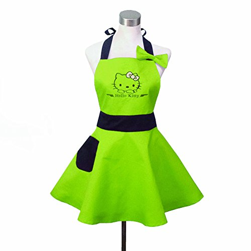 Lovely-Hello-Kitty-Green-Retro-Kitchen-Aprons-for-Woman-Girl-Cotton-Cooking-Salon-Pinafore-Vintage-Apron-Dress