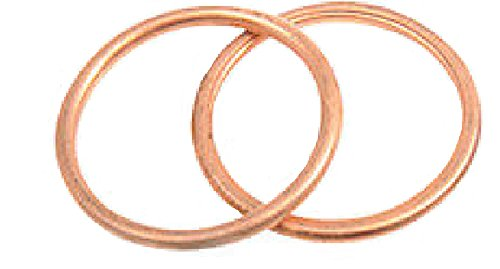 Orange Cycle Parts Copper Crush Ring Exhaust Port Gaskets PAIR (2) For Harley 1984-2017 JGI-65324-83-CG by James Gasket ()