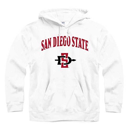 (Campus Colors San Diego State Aztecs Arch & Logo Gameday Hooded Sweatshirt - White, Medium)
