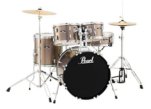 Pearl RS525SCC707 Roadshow 5-Piece Drum Set, Bronze Metallic -