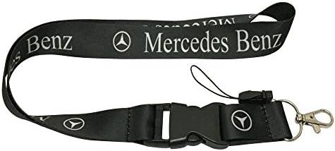 Maison Badges d/'Identification pour Ferrari 1 Cordon Tour de Cou Noir pour cl/é de Voiture